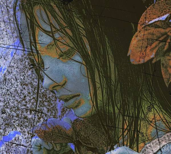 Woman Poster featuring the digital art Another Rainy Day by Gun Legler