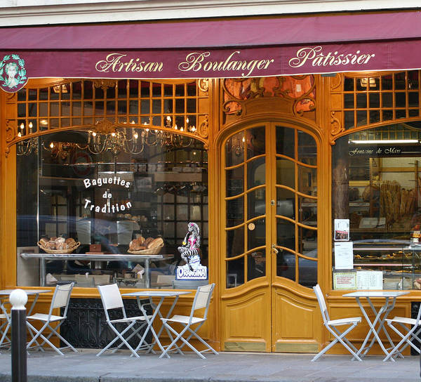 Paris Poster featuring the photograph Boulangerie by A Morddel