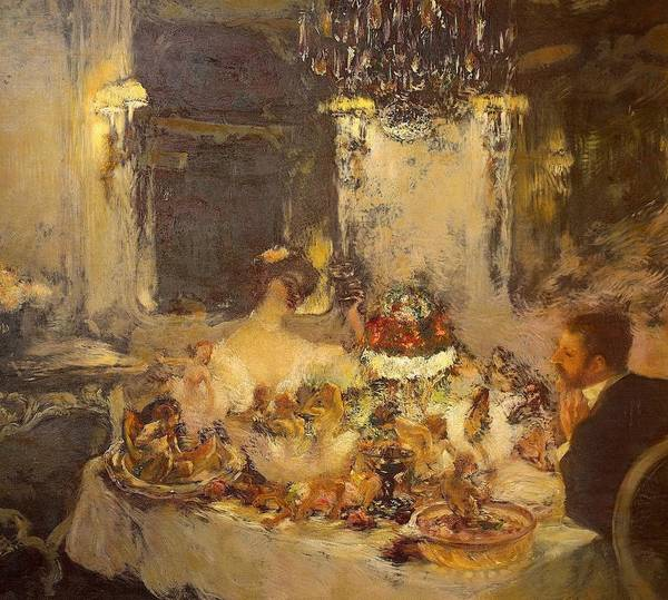 Art Poster featuring the painting Champagne by Gaston La Touche