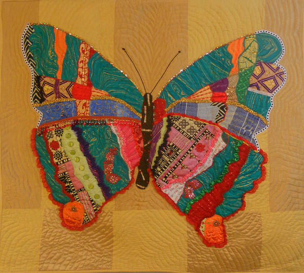 Butterfly Poster featuring the tapestry - textile Metamorphosis by Aisha Lumumba