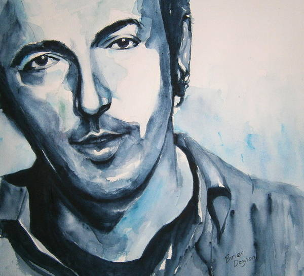 Springsteen Poster featuring the painting Springsteen by Brian Degnon
