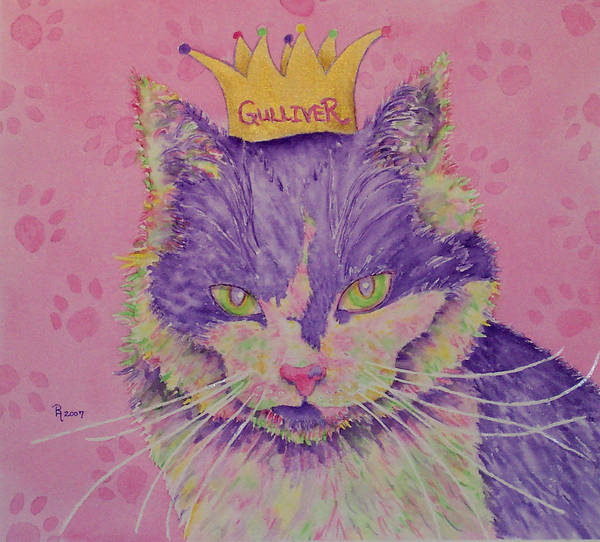 Cat Poster featuring the painting The Queen by Rhonda Leonard