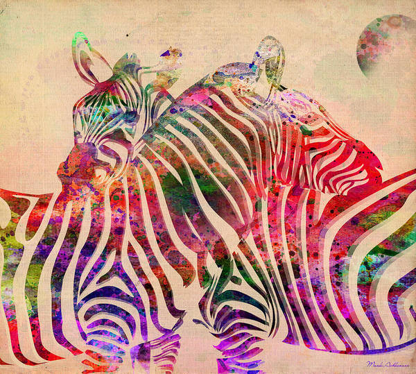 Zebra Poster featuring the digital art Wild Life 3 by Mark Ashkenazi
