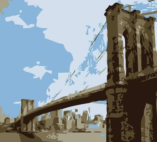 Brooklyn Bridge Poster featuring the photograph Brooklyn Bridge Color 6 by Scott Kelley