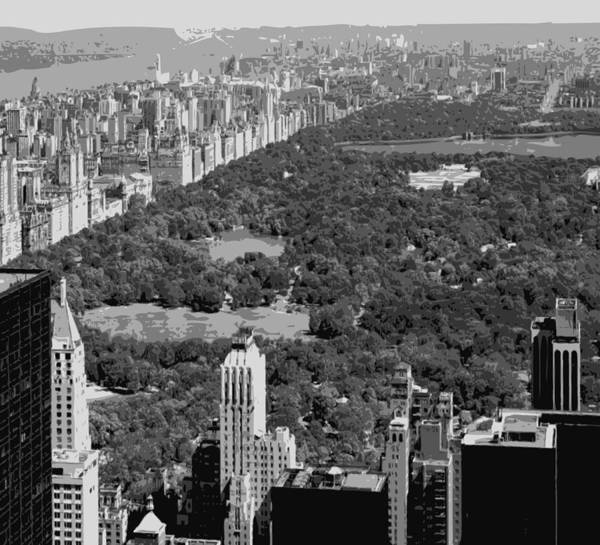 Central Park Poster featuring the photograph Central Park Bw6 by Scott Kelley