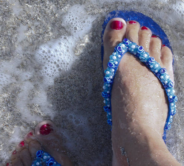 Foot Poster featuring the photograph Refreshing Foot by Ivete Basso Photography