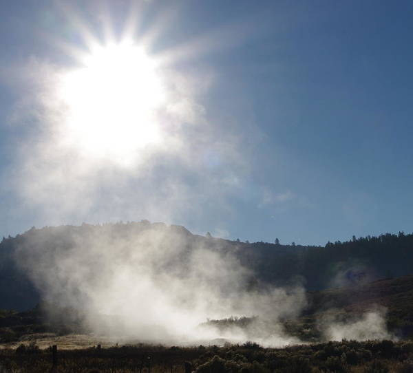 Hot Springs Poster featuring the photograph Sunshine Hot Springs by Jeff Lowe