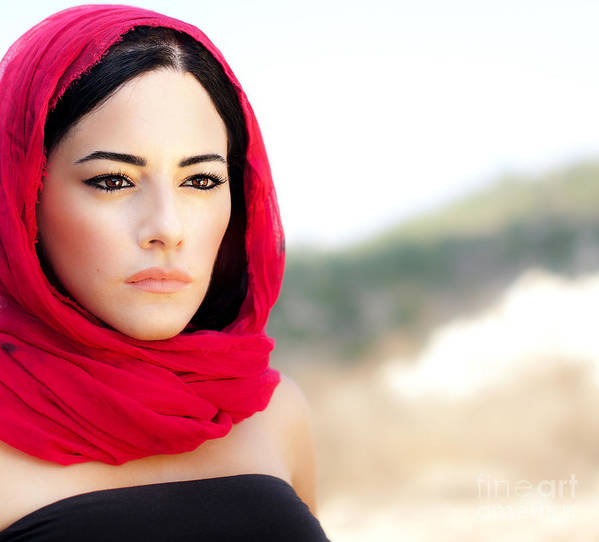 Adult Poster featuring the photograph Beautiful Arabic Woman by Anna Om