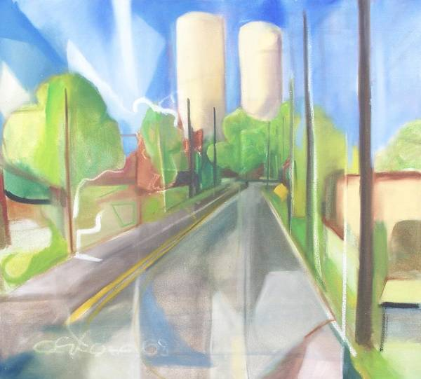 Painting Poster featuring the painting Bergen Turnpike by Ron Erickson