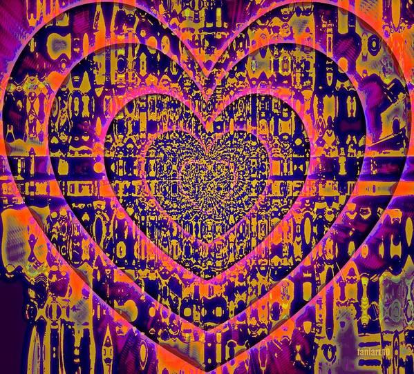 Fania Simon Poster featuring the painting Hearts International by Fania Simon