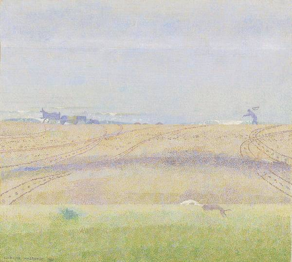 Nature Poster featuring the painting Misty Sea, Jan Toorop, 1899 by Jan Toorop