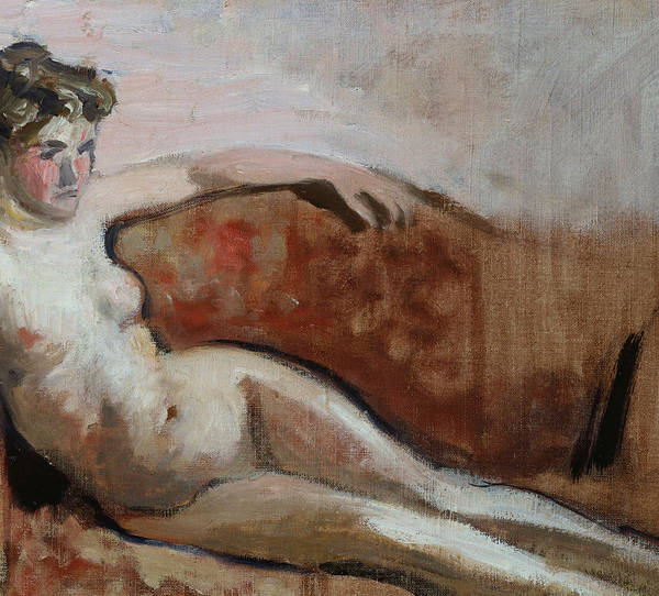 Nude Poster featuring the painting Reclining Nude by Edouard Vuillard