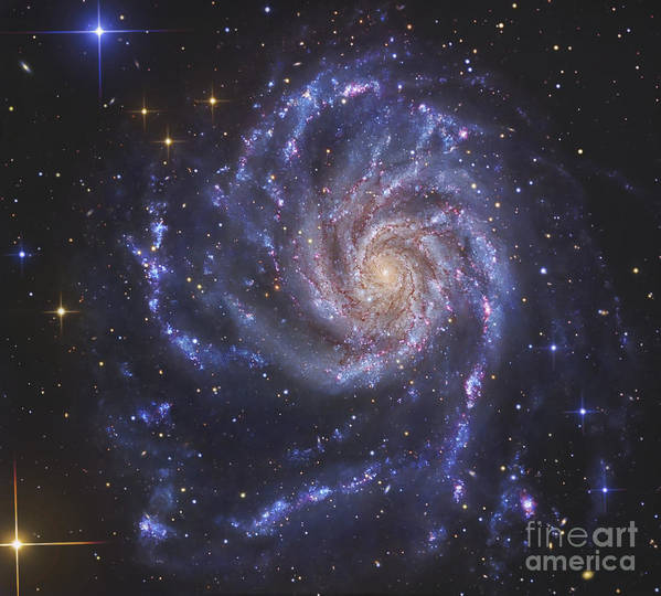 Ngc 5457 Poster featuring the photograph The Pinwheel Galaxy, Also Known As Ngc by R Jay GaBany