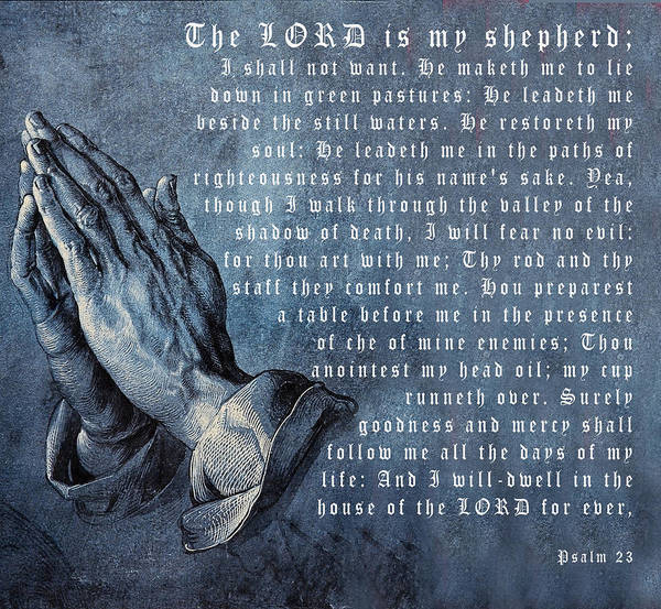 The Lord Is My Shepherd Poster featuring the digital art The Lord Is My Shepherd by Albrecht Durer