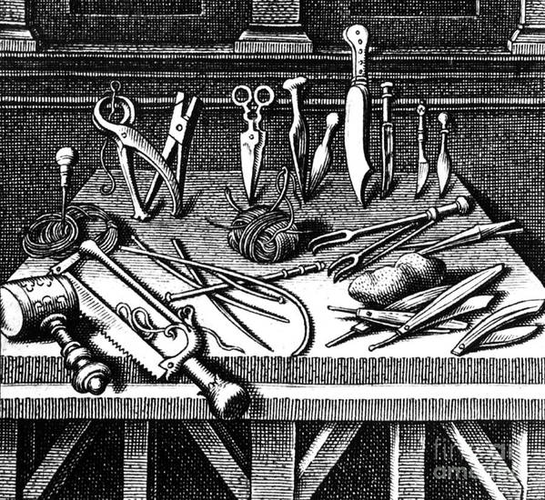 Science Poster featuring the photograph Surgical Equipment, 16th Century by Science Source