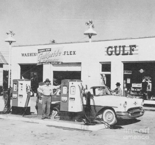 Gulf Gas Station Near Me >> Vintage Gulf Gas Station Poster
