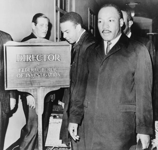 History Poster featuring the photograph Mlk Enters The Fbi Building. Dr. Martin by Everett
