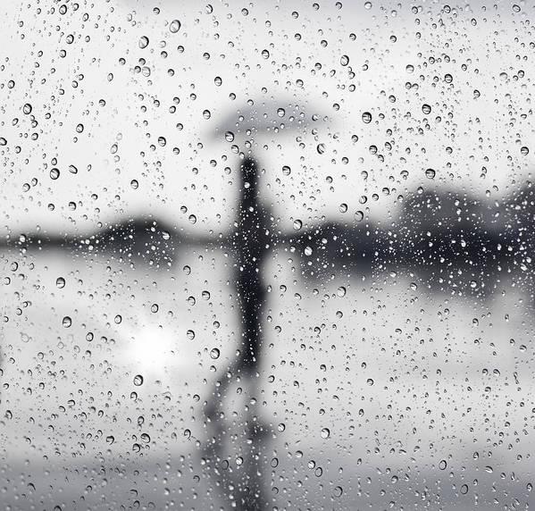 Abstract Poster featuring the photograph Rainy Day by Setsiri Silapasuwanchai