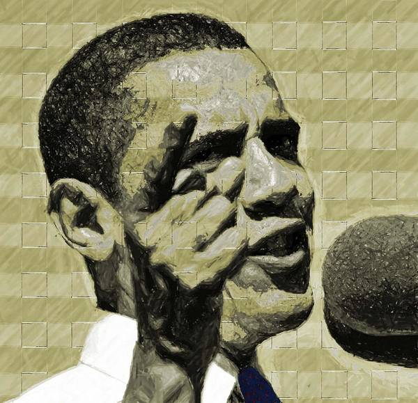 Barack Poster featuring the digital art Tomorrows Hope by LeeAnn Alexander