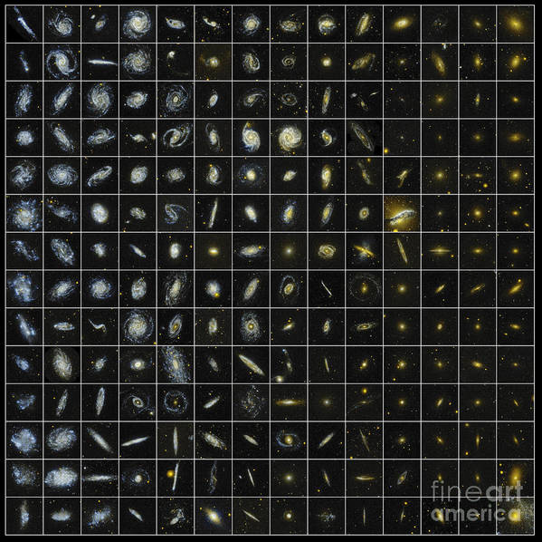 Ultraviolet Poster featuring the photograph 196 Galaxies by Science Source