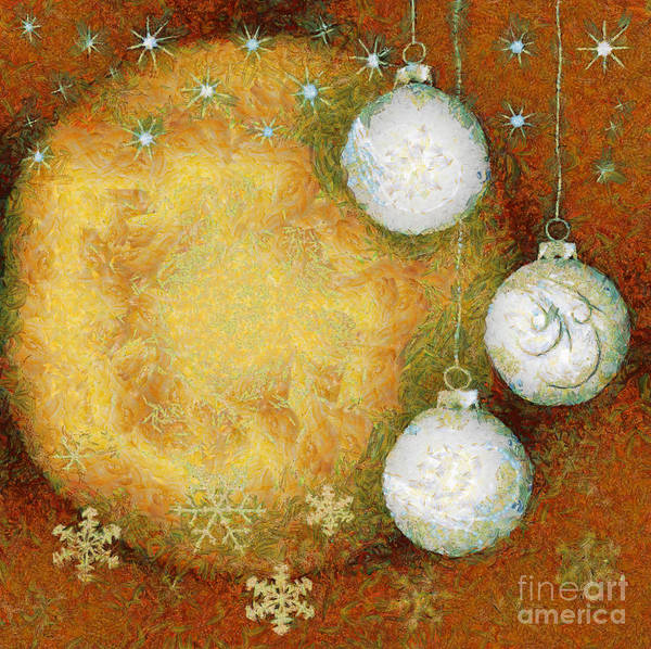 Abstract Poster featuring the digital art Christmas Background by Michal Boubin