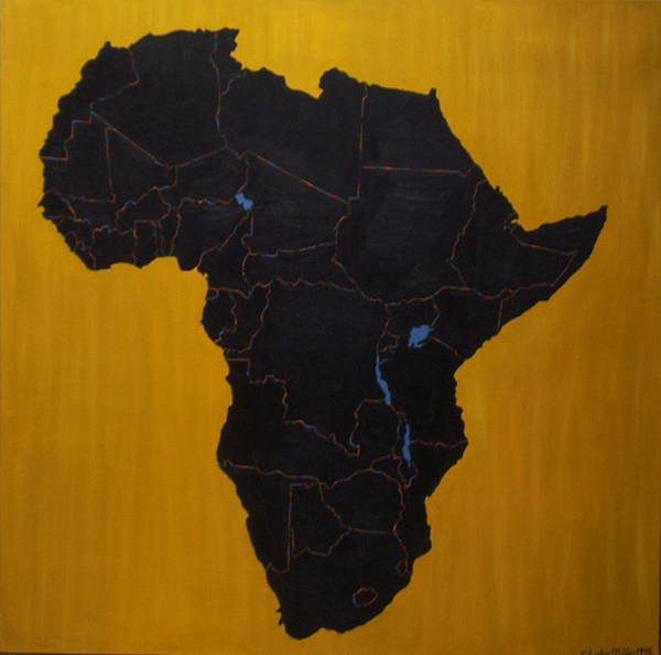 Africa Poster featuring the painting Afrika by Leslye Miller