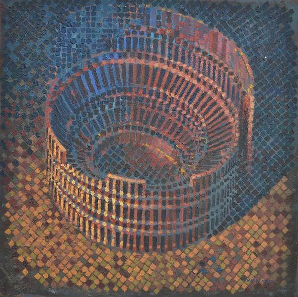 Roman Poster featuring the painting Autumn Amphitheatre by Mark Howard Jones