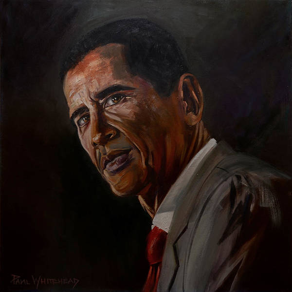 Barack Obama Poster featuring the photograph Barak Obama by Paul Whitehead