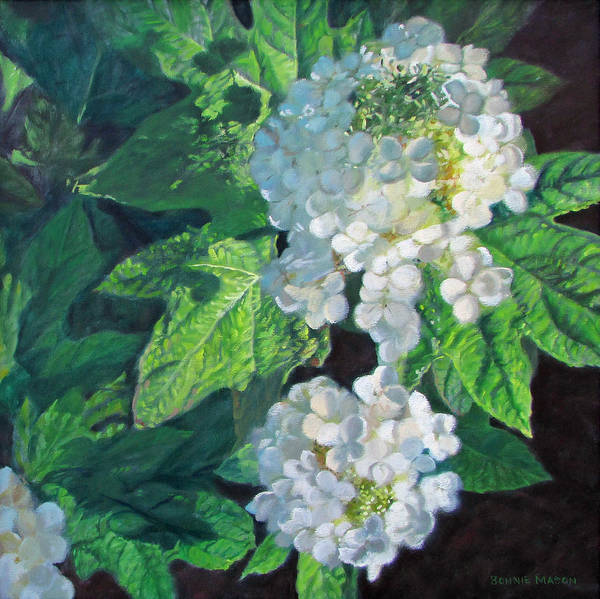 Hydrangea Poster featuring the painting Celebration Sunrise by Bonnie Mason