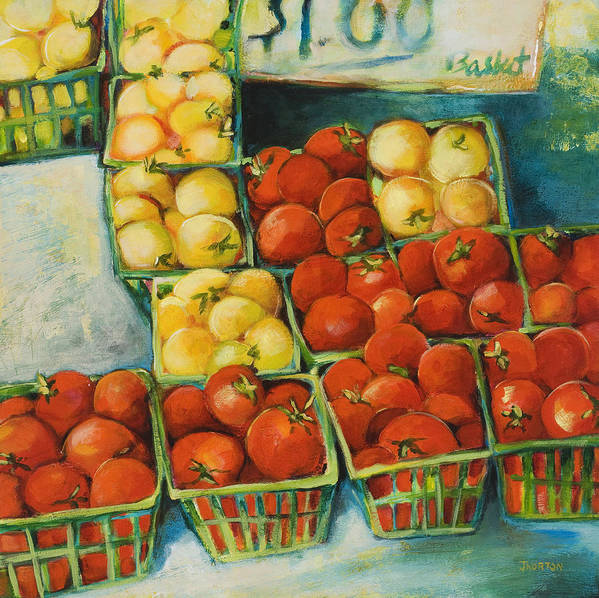 Cherry Tomatoes Poster featuring the painting Cherry Tomatoes by Jen Norton
