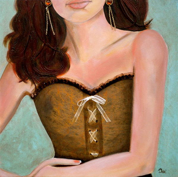 Chocolate Romance Poster featuring the painting Chocolate Romance by Debi Starr