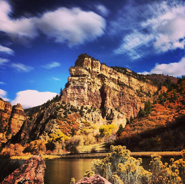 Nature Poster featuring the photograph Fall At Hanging Lake Colorado by Tory Stoffregen