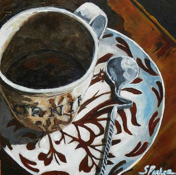 Coffee Cup Poster featuring the painting Good Morning by Scott Parker