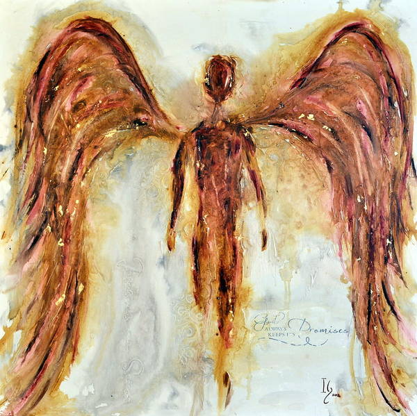 Angel Poster featuring the painting His Promise by Ivan Guaderrama