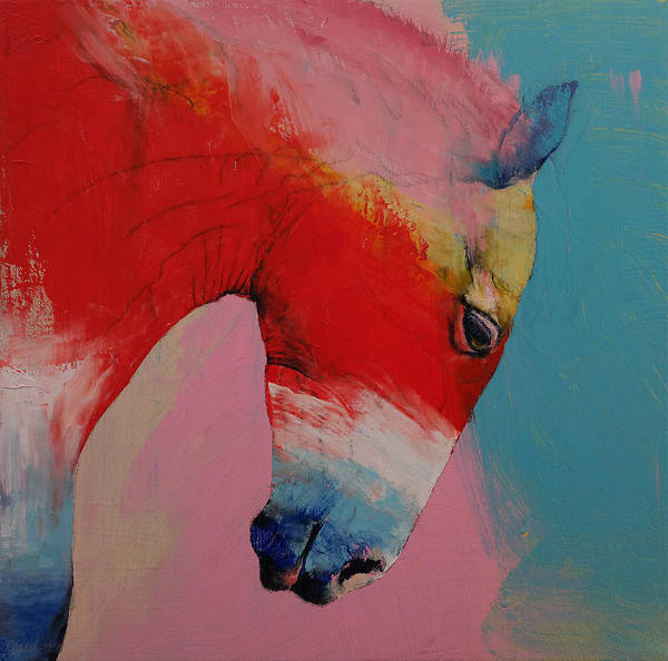 Art Poster featuring the painting Horse by Michael Creese