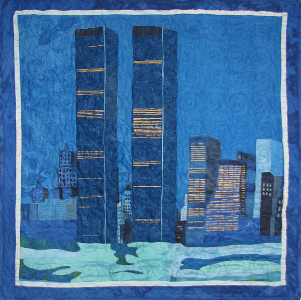 Twin Towers Poster featuring the tapestry - textile In Deep Thought by Aisha Lumumba