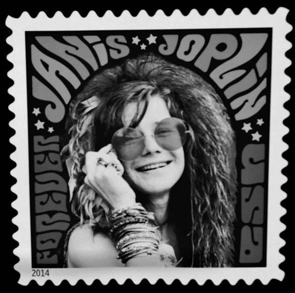 Janis Poster featuring the photograph Janis Stamp In A Black And White Vibe by Rob Hans