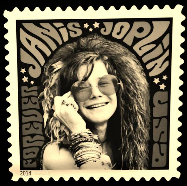 Janis Poster featuring the photograph Janis Stamp In A Sepia Vibe by Rob Hans