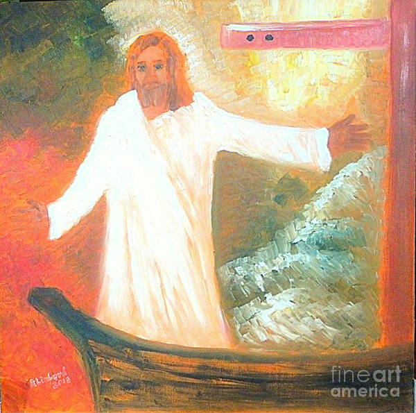 Jesus Poster featuring the painting Jesus Is The Christ Messiah by Richard W Linford
