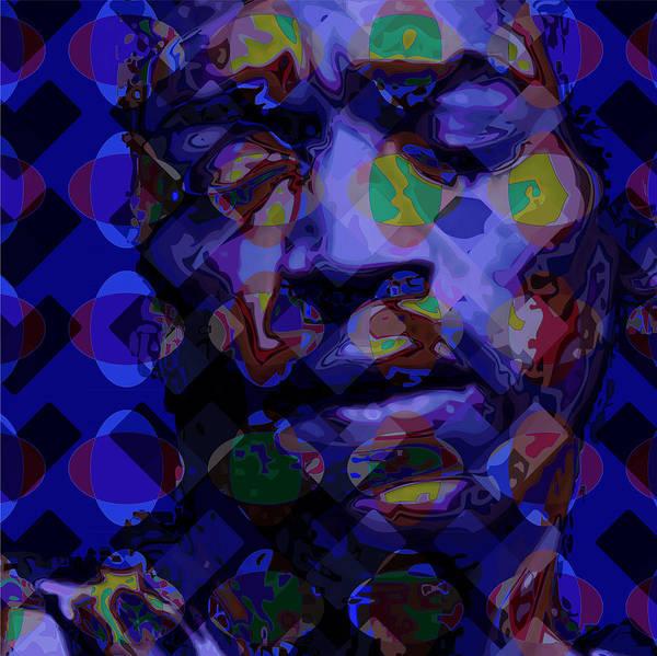 Portrait Poster featuring the digital art Jimi Hendricks by Scott Davis