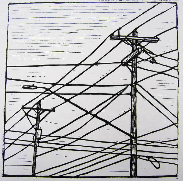 Power Poster featuring the drawing Lines by William Cauthern