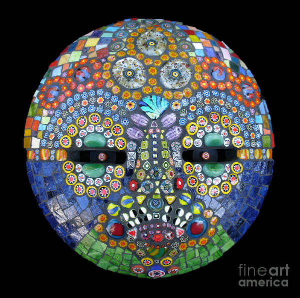Mosaic Mask Poster featuring the photograph Marge by Valerie Fuqua