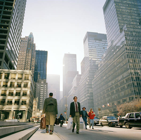 New York Poster featuring the photograph Morning In Manhattan by Shaun Higson