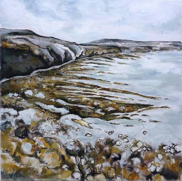 Landscape Poster featuring the painting Ravenscar I by Victoria Richards