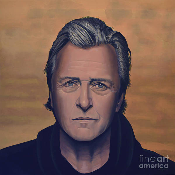 Rutger Hauer Poster featuring the painting Rutger Hauer by Paul Meijering