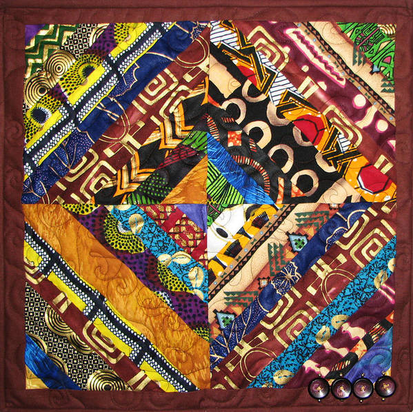 Art Quilt Poster featuring the tapestry - textile Scandalous by Aisha Lumumba