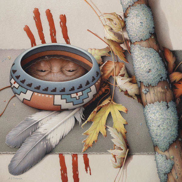 Colored Pencil Poster featuring the drawing Season Of Remembrance by Amy S Turner
