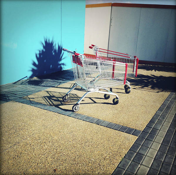 Cart Poster featuring the photograph Shopping Trolleys by Les Cunliffe
