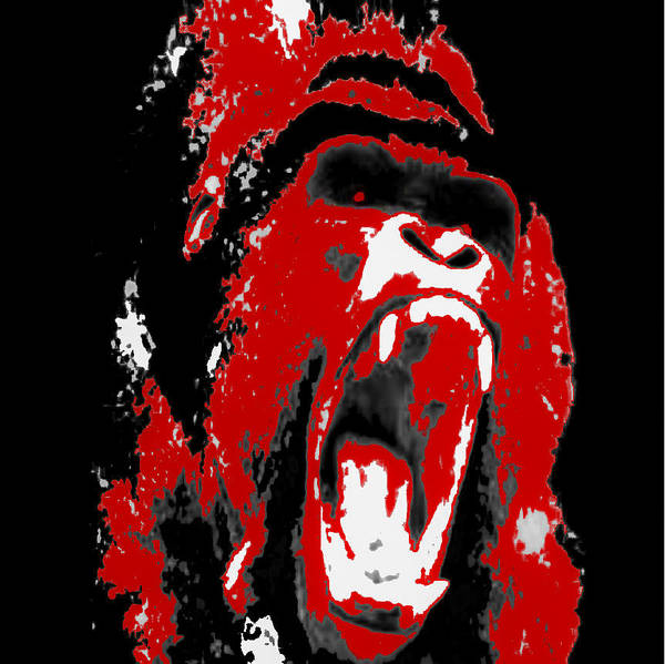 Graphic Illustration Of Gorilla Poster featuring the photograph Silverback Gorilla by Zech Browning