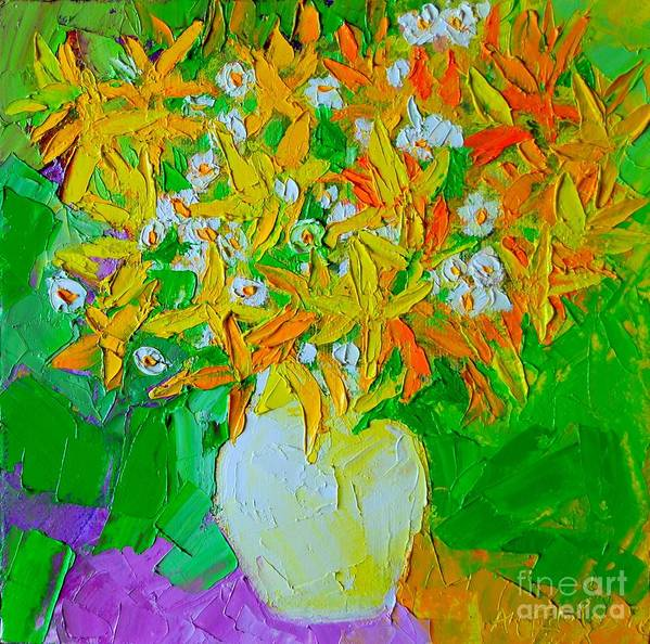 Forsythia Poster featuring the painting Spring Flowers by Ana Maria Edulescu